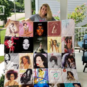 Diana Ross 3 Quilt Blanket