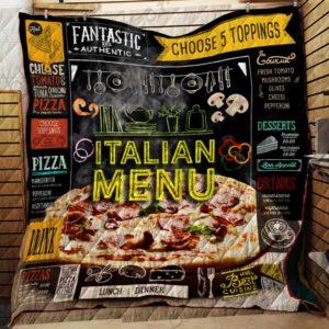 I Love Pizza Quilt Blanket