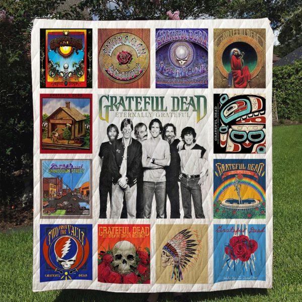 Grateful Dead Albums Quilt Blanket