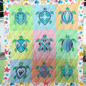 Turtle Pattern Quilt Blanket Great Customized Blanket Gifts For Birthday Christmas Thanksgiving