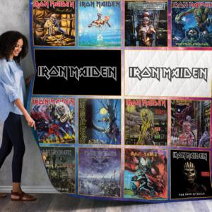 Iron Maiden Studio Albums Quilt Blanket For Fans