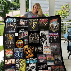 Hot Bands Quilt Blanket