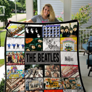 The Beatles Band Albums Quilt Blanket