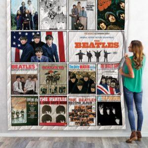 The Beatles Albums Quilt Blanket