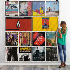 The Rolling Stones Live Albums Quilt Blanket