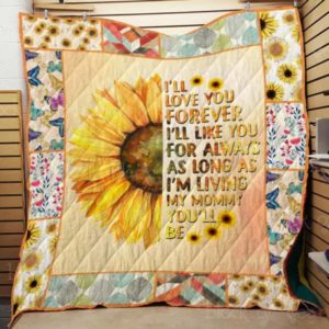 I Love You, Mom Quilt Blanket
