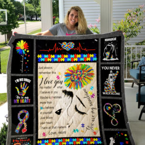 Autism You Are My Sunshine Quilt Blanket Great Customized Blanket Gifts For Birthday Christmas Thanksgiving