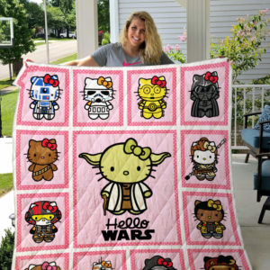 Hello Kitty Star Wars Quilt Blanket For Fans