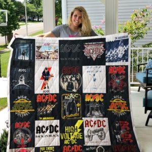 Ac/Dc T-Shirt Quilt Blanket For Fans