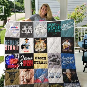 George Strait T-Shirt Quilt Blanket