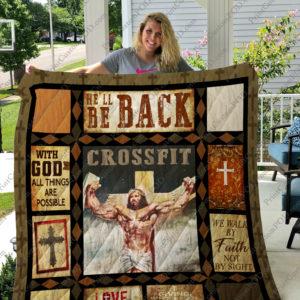 Jesus Crossfit Quilt Blanket