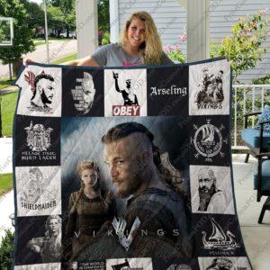 Vikings T-Shirt Quilt Blanket