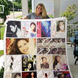 Selena Quintanilla Albums Quilt Blanket 02