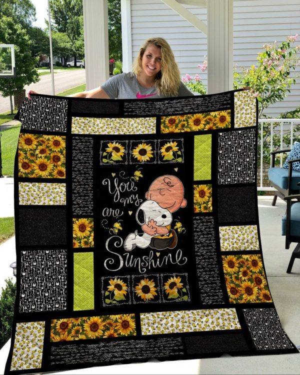 Snoopy – You Are My Sunshine Quilt Blanket
