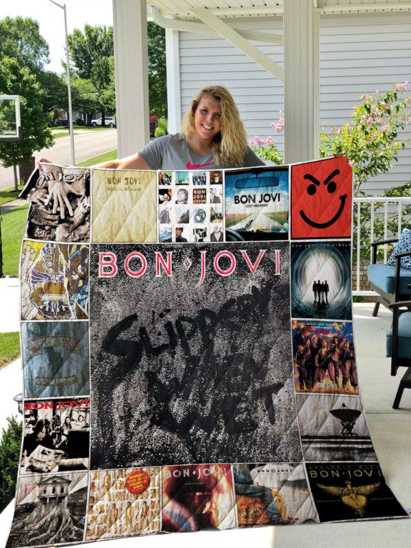 Bon Jovi Quilt Blanket 01312