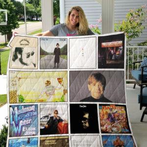 Elton John Albums Quilt Blanket Ver14