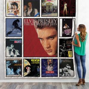 Elvis Presley Live Albums Quilt Blanket 01