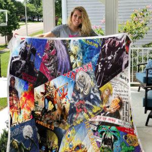 Iron Maiden Quilt Blanket 01153