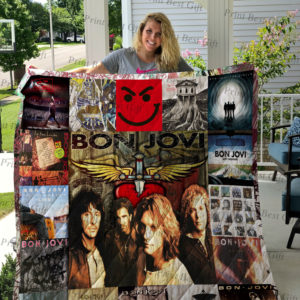 Bon Jovi Poster Quilt Blanket