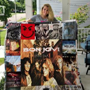 Bon Jovi Poster Quilt Blanket Ver 3