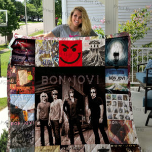Bon Jovi Poster Quilt Blanket Ver 2