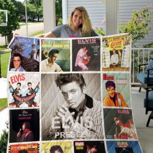 Elvis Presley Albums Quilt Blanket Ver 13