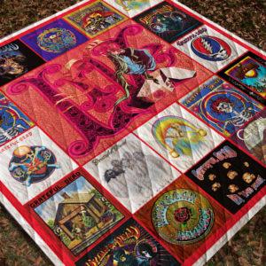 Grateful Dead Quilt Blanket Ver 2