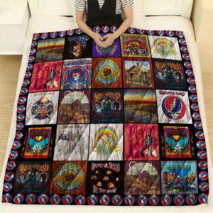 Grateful Dead Quilt Blanket Ver 3