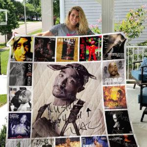 Tupac Shakur Quilt Blanket 0950