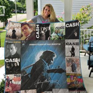 Johnny Cash Quilt Blanket For Fans Ver 17