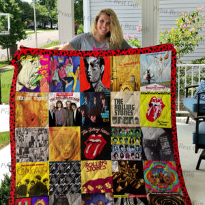 Rolling Stones Albums Cover Poster Quilt Blanket Ver 2