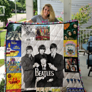 The Beatles Albums Cover Poster Quilt Blanket