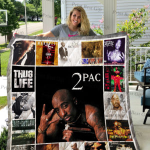 Tupac Shakur Albums Cover Poster Quilt Blanket
