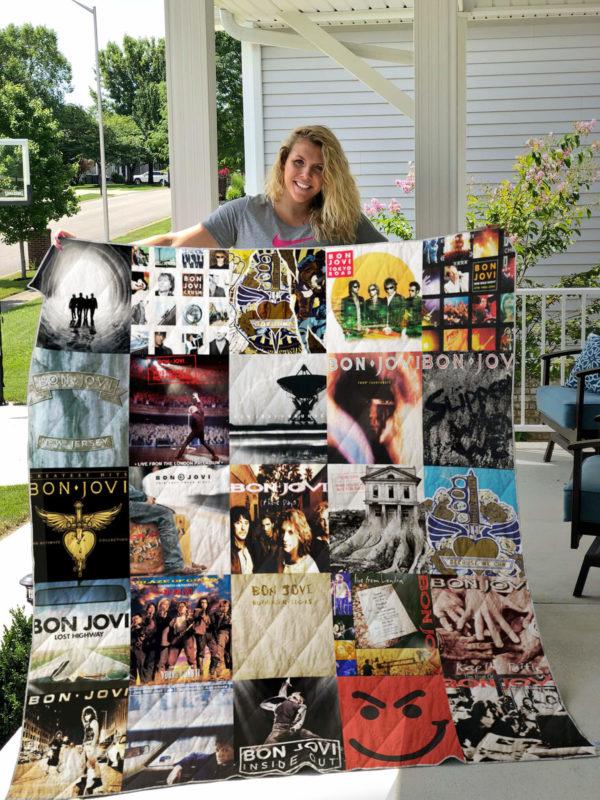 Jon Bon Jovi (Band) Quilt Blanket For Fans Ver 25