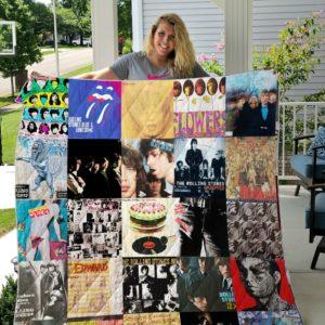 The Rolling Stones Albums Quilt Blanket For Fans Ver 25
