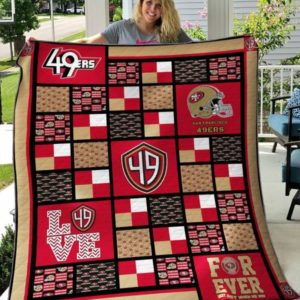 San Francisco 49ers Pattern Quilt Blanket Great Customized Blanket Gifts For Birthday Christmas Thanksgiving