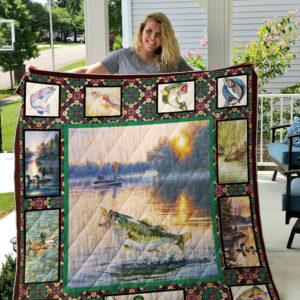 Fishing (Fishing On Lake) Quilt Blanket 02