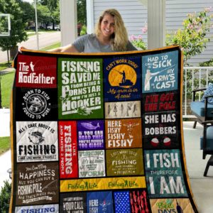 Fishing All I Care About Is Fishing Quilt Blanket Great Customized Gifts For Birthday Christmas Thanksgiving Perfect Gifts For Fishing Lover
