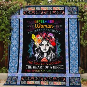 Personalized Hippie The Fire Of A Lioness Quilt Blanket Great Customized Gifts For Birthday Christmas Thanksgiving Perfect Gifts For Hippie
