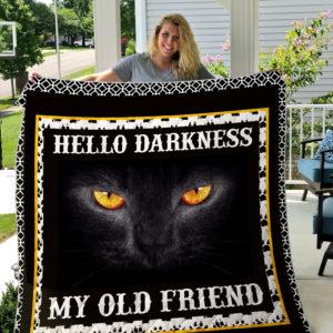 Cat Black Quilt Blanket 09