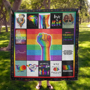 Lgbt All You Need Is Love Quilt Blanket Great Customized Blanket Gifts For Birthday Christmas Thanksgiving