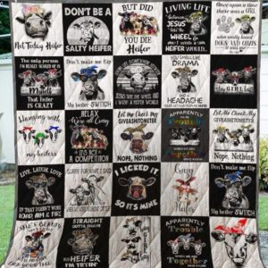 Cow I Licked So It's Mine Quilt Blanket Great Customized Blanket Gifts For Birthday Christmas Thanksgiving