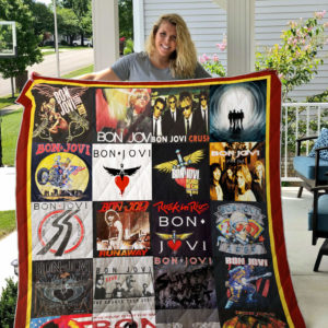 Best Of Bon Jovi Quilt Blanket