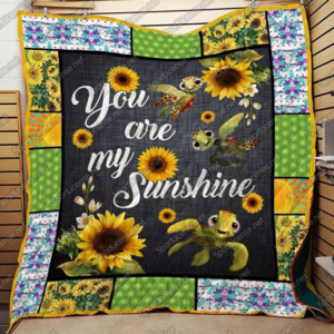 Sunflower Turtle You Are My Sunshine Quilt Blanket Great Customized Gifts For Birthday Christmas Thanksgiving Perfect Gifts For Sunflower Lover