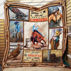 Cowgirl – Born To Be A Cowgirl Quilt Blanket