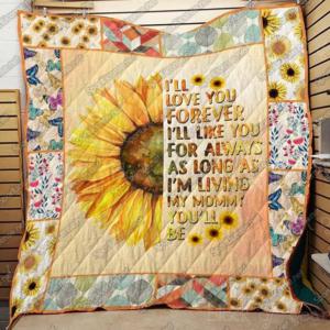 Sunflower – I'Ll Love You Forever Quilt Blanket