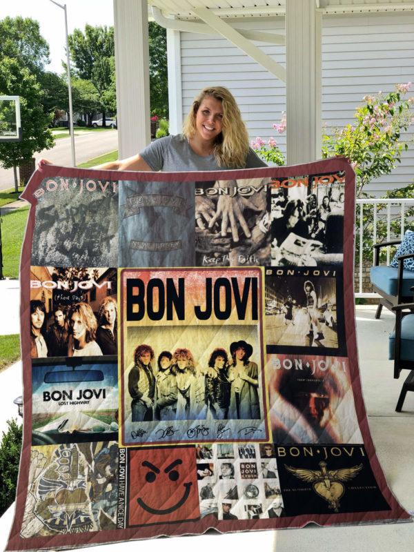 Best Of Bon Jovi Quilt Blanket