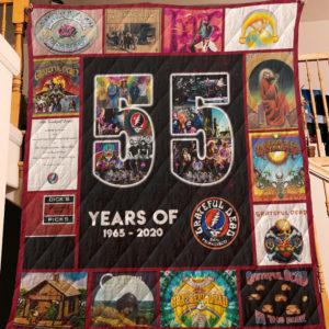 55 Years Of Grateful Dead Quilt Blanket