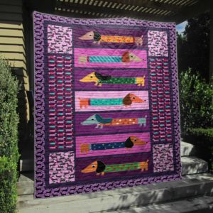 Colorful Dachshund Quilt Blanket Great Customized Blanket Gifts For Birthday Christmas Thanksgiving