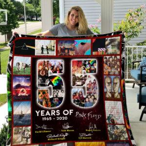 55 Years Of Pink Floyd Quilt Blanket